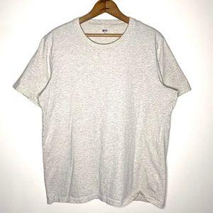 Uniqlo Heather Beige Crew Neck Soft T-shirt Size L